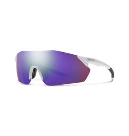 Smith Smith Reverb Sunglasses Matte White Chromapop Violet MIrror