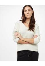 tentree WOMAN'S HIGHLINE COTTON V-NECK SWEATER