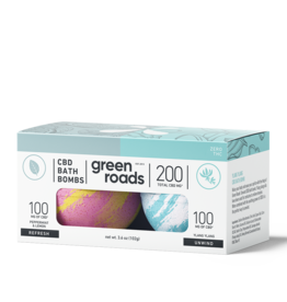 Green Roads Bath Bomb Duo - REFRESH & UNWIND- 200mg