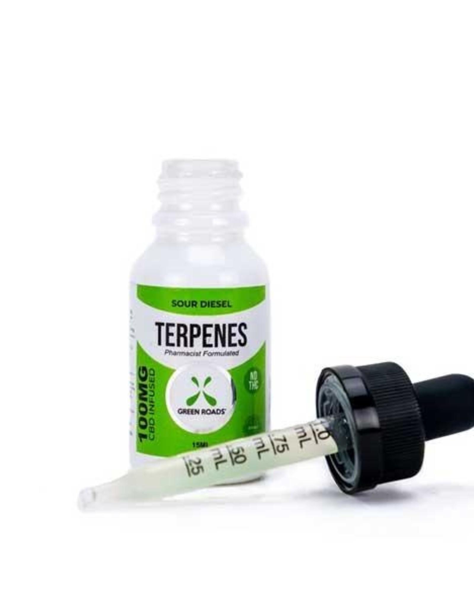 Green Roads 100 MG Sour Diesel Terpene Oil