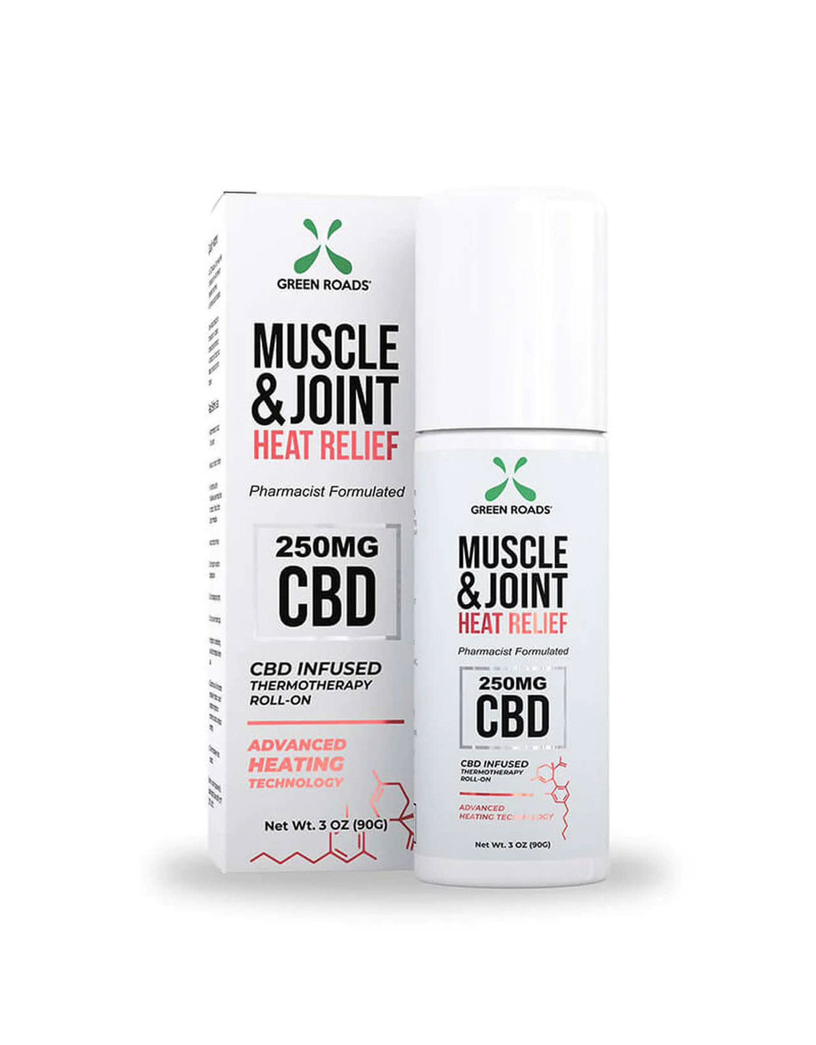 Green Roads Green Roads Muscle Joint Roll On 250mg 3oz