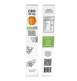 Tropic CBD Tropic CBD Natural Honey Sticks 20mg 3ct