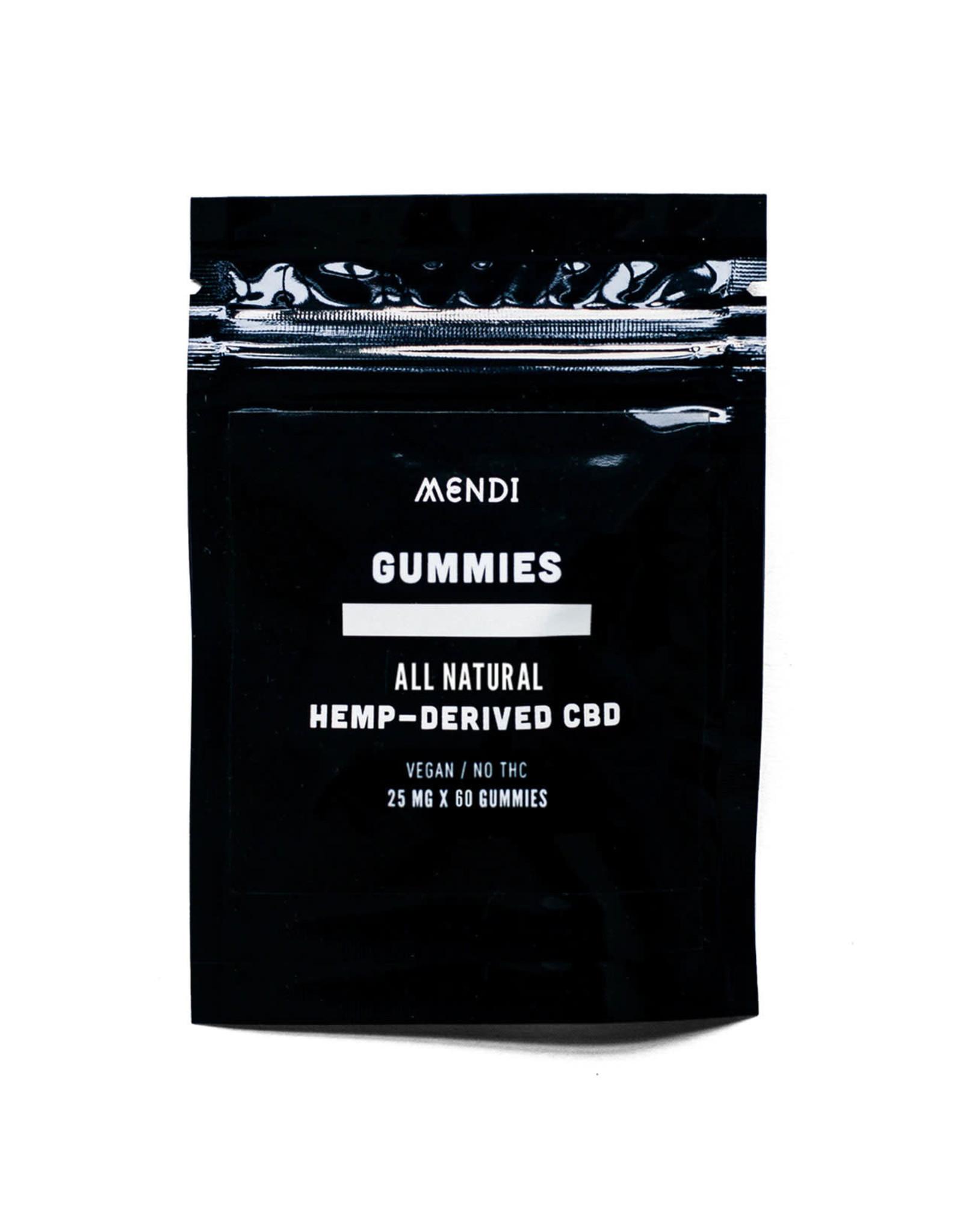 Mendi Mendi No THC Gummies 25mg 60ct