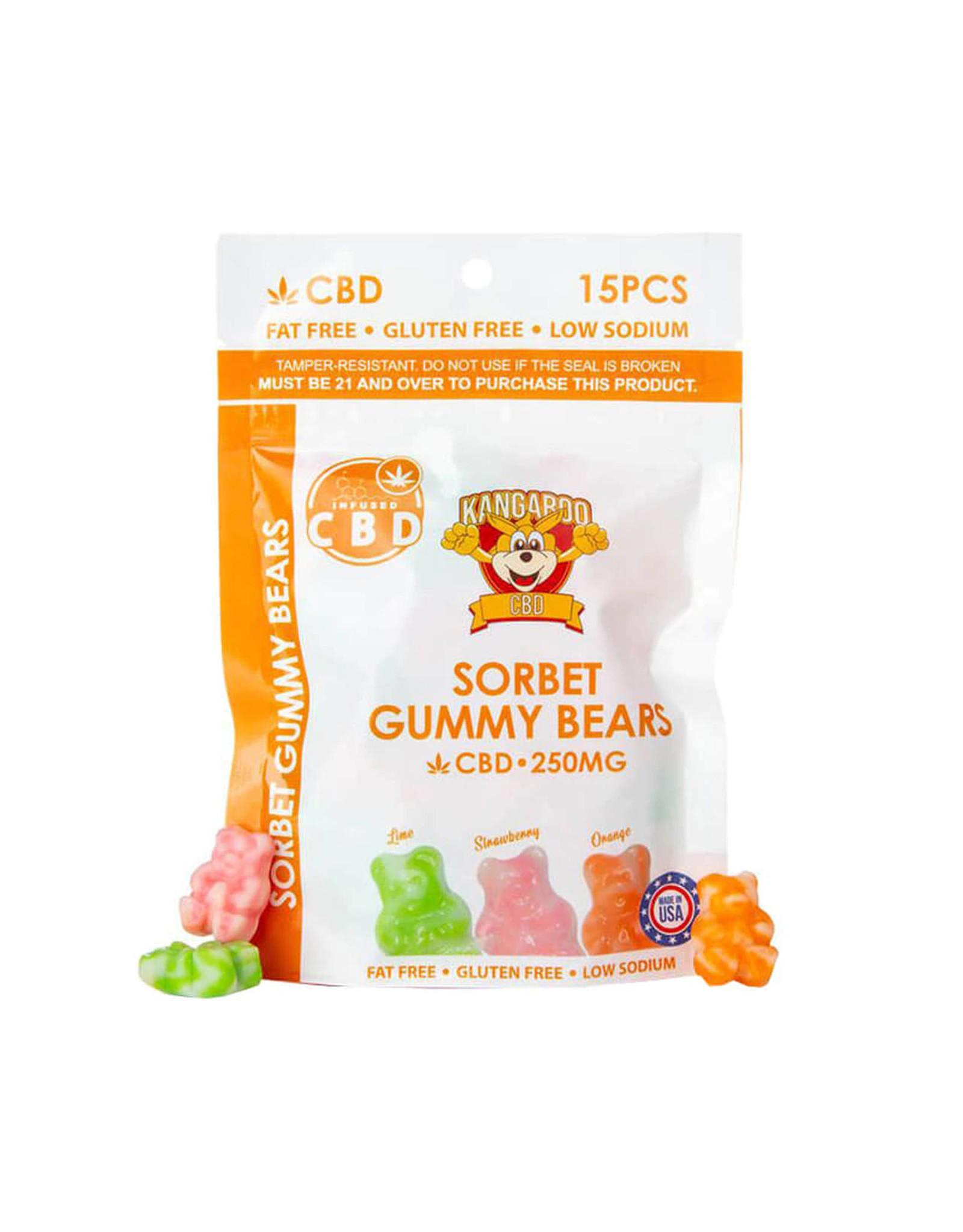 Kangaroo CBD Kangaroo CBD Sorbet Gummy Bears 250mg 15ct