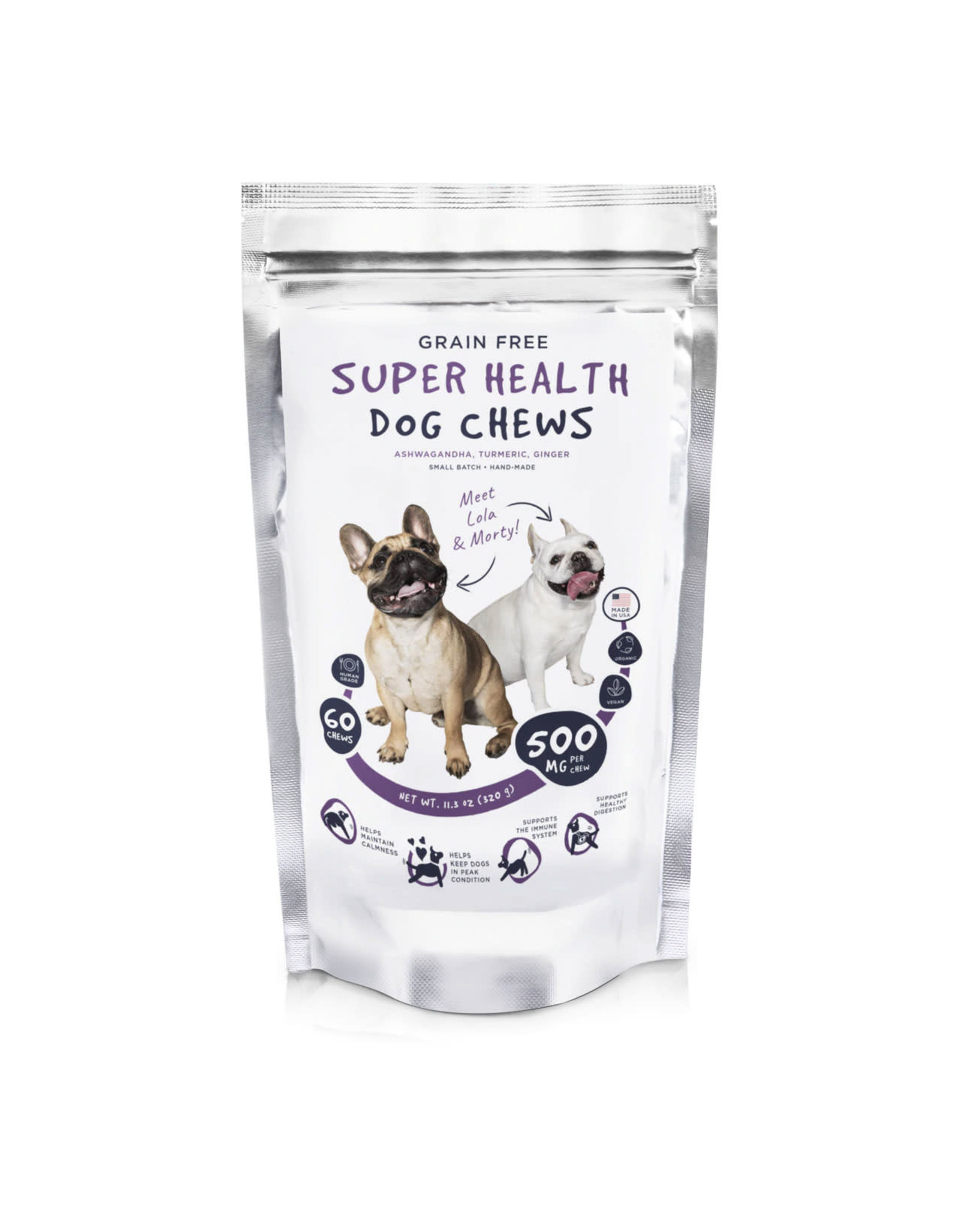 Neurogan Neurogan Non CBD  Super Healthy  Dog Chews 500mg 60ct