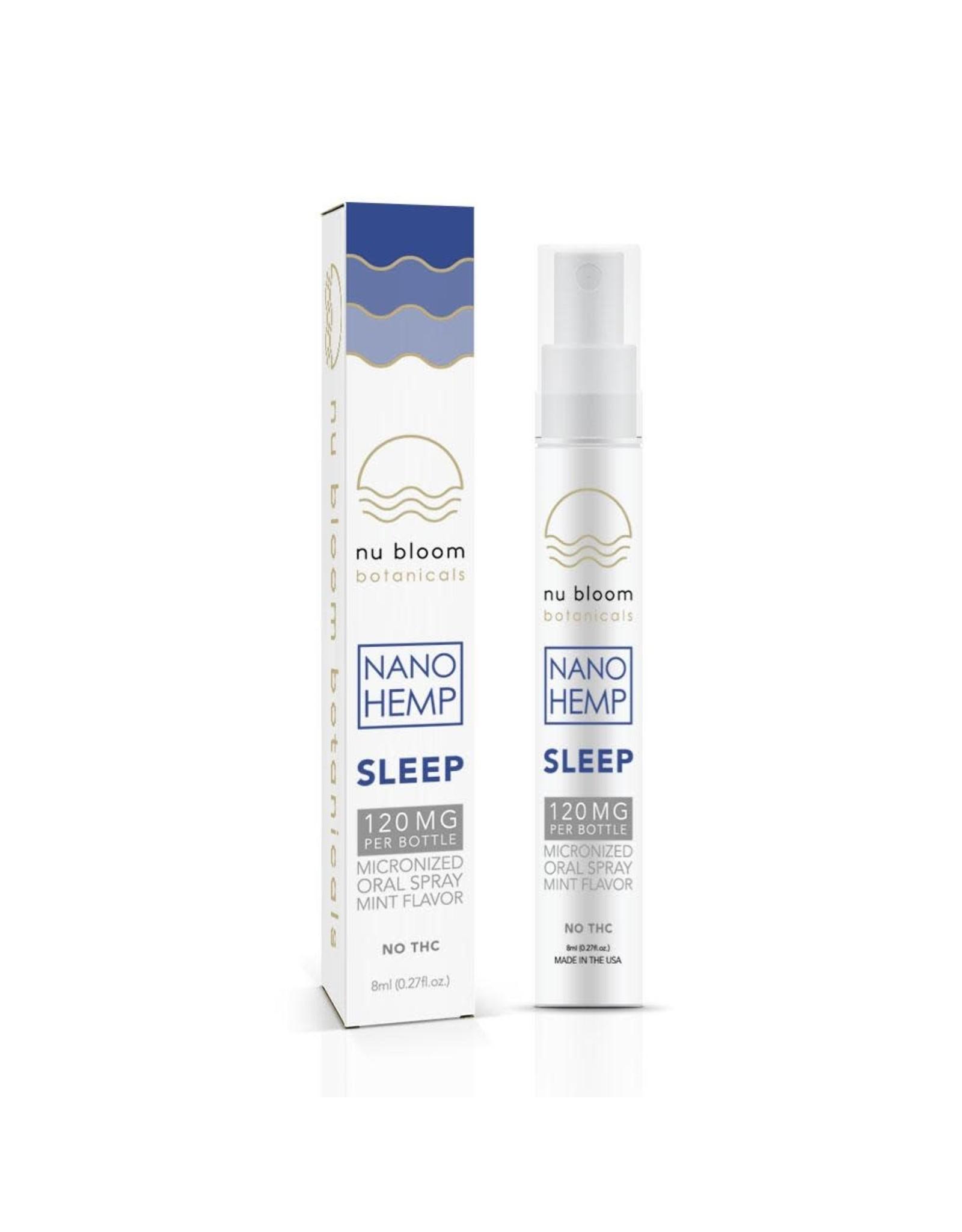 Nu Bloom Nu Bloom Nano CBD Oral Spray Sleep 120mg 8ml