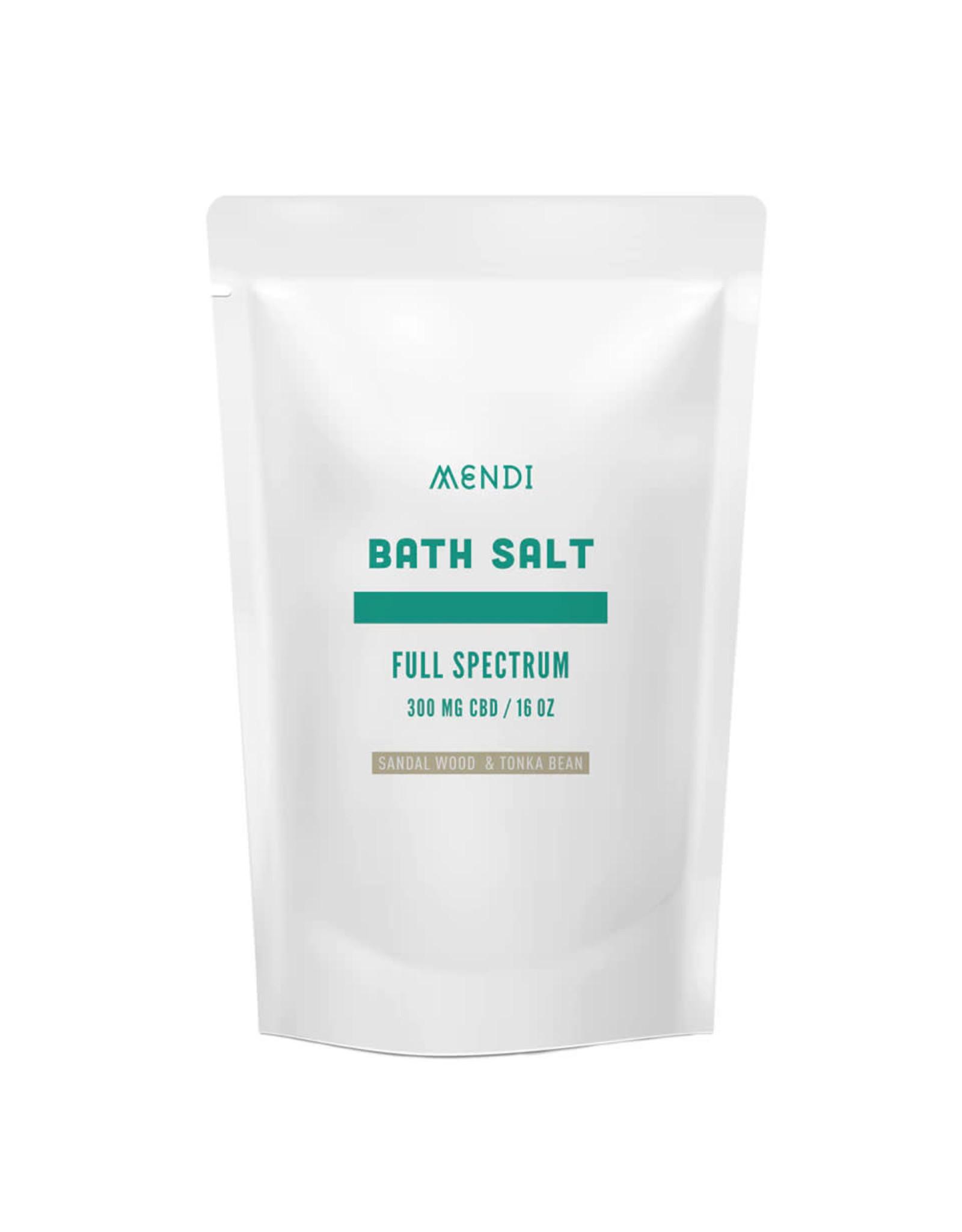Mendi Mendi Full Spectrum 300mg  Sandalwood Bath Salts 16oz