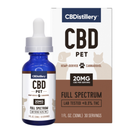 CBDistillery CBDistillery Pet Full Spectrum 600mg 1oz