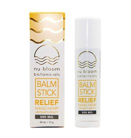 Nu Bloom Nu Bloom Nano CBD  Relief Balm Stick 500mg 0.5oz