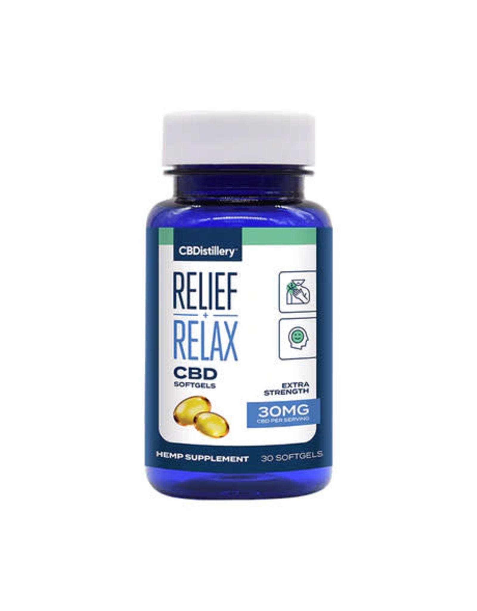 CBDistillery CBDistillery Broad Spectrum Relax  & Relief  Gelcaps 30mg 30ct