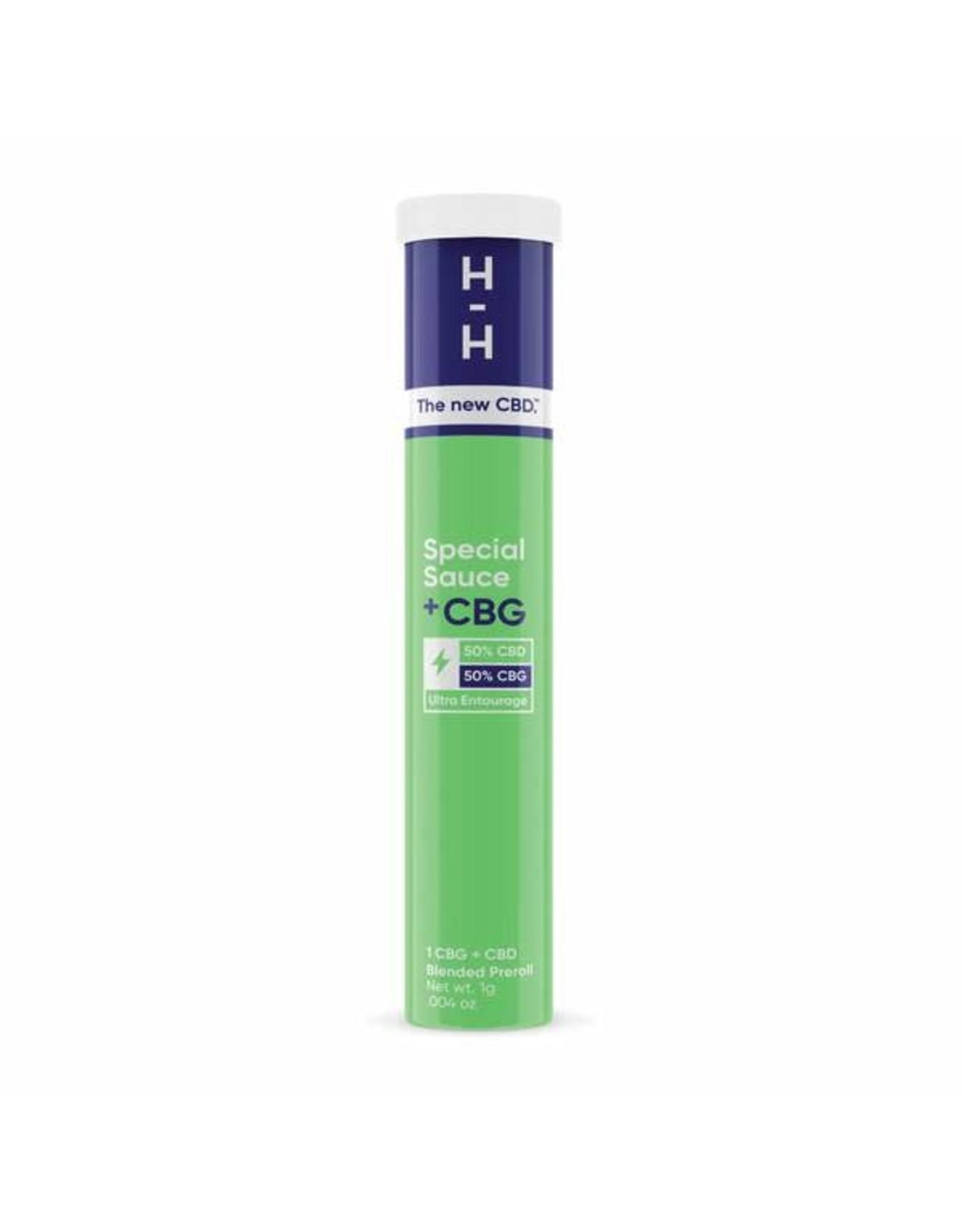 HHemp HHemp Preroll CBG+CBD  Special Sauce Indica 1gr