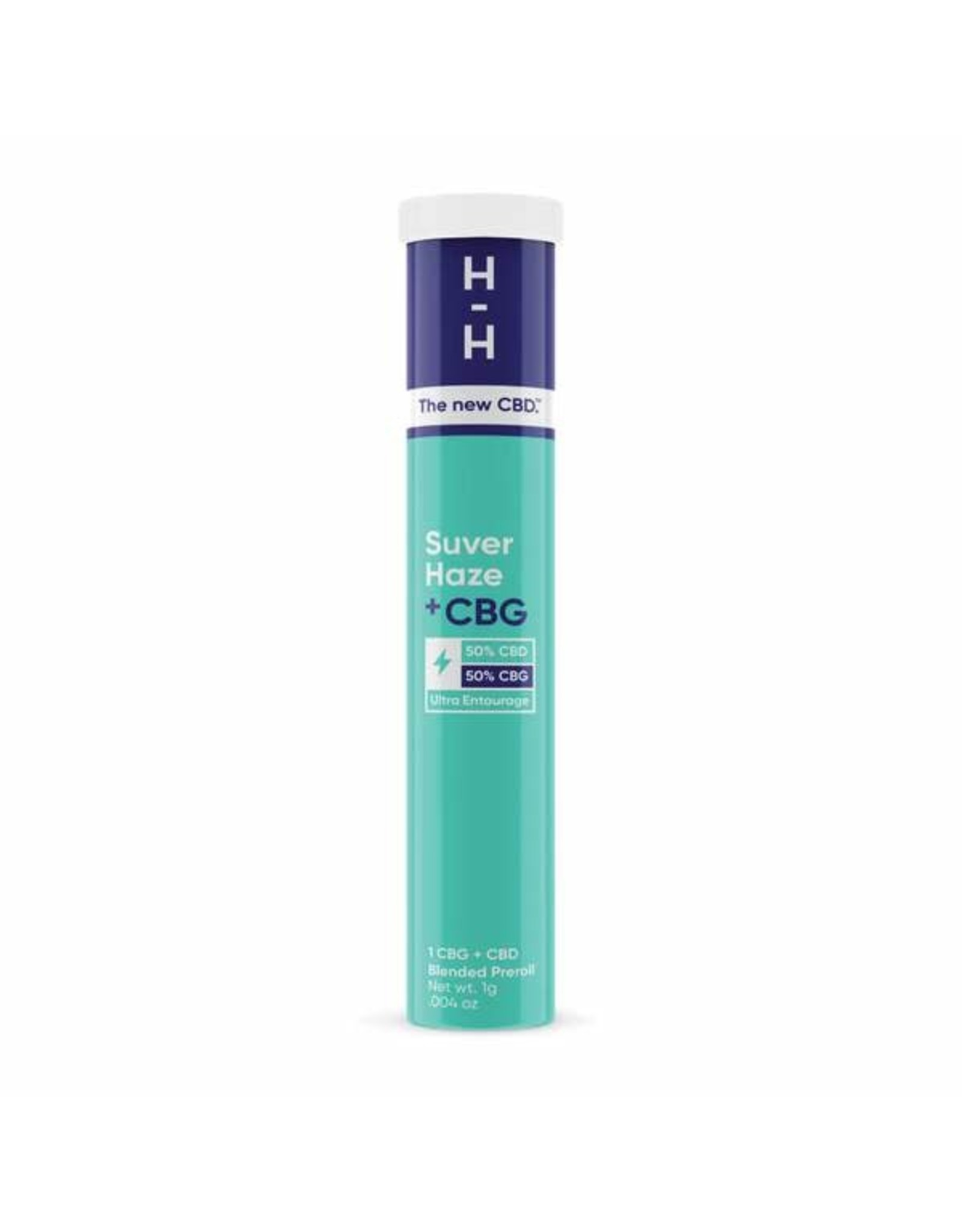 HHemp HHemp Preroll CBG+CBD  Suver Haze Sativa 1gr