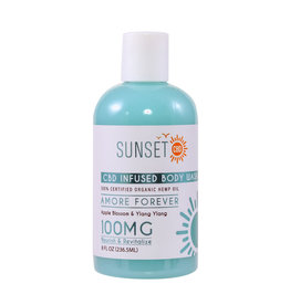 Sunset CBD Sunset CBD Endless Love Body Wash 100mg 8oz