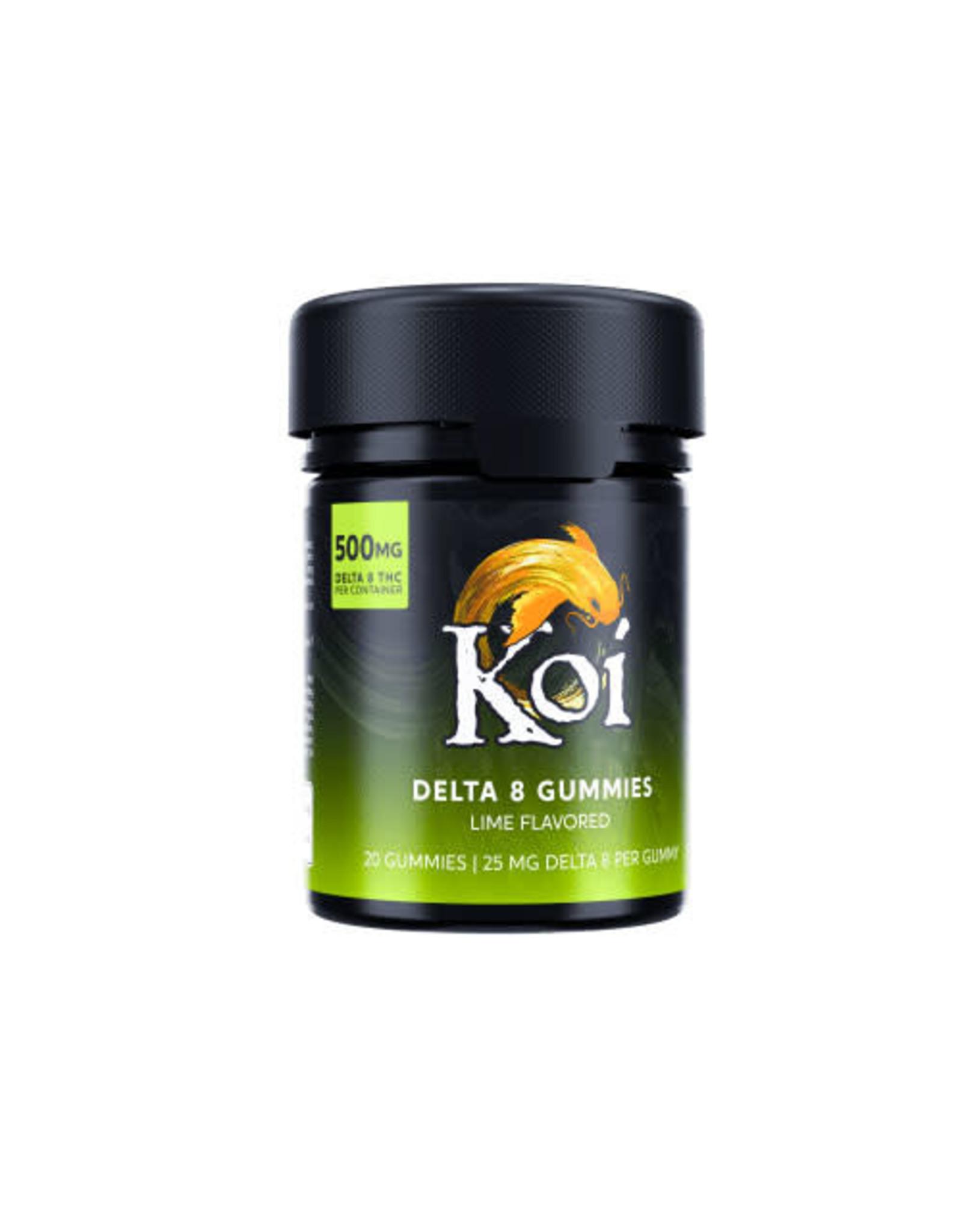 Koi Koi Delta 8 Lime Gummies 25mg 20ct