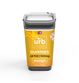 URB URB Delta 8 Nano Gummies Mango 100mg 10ct