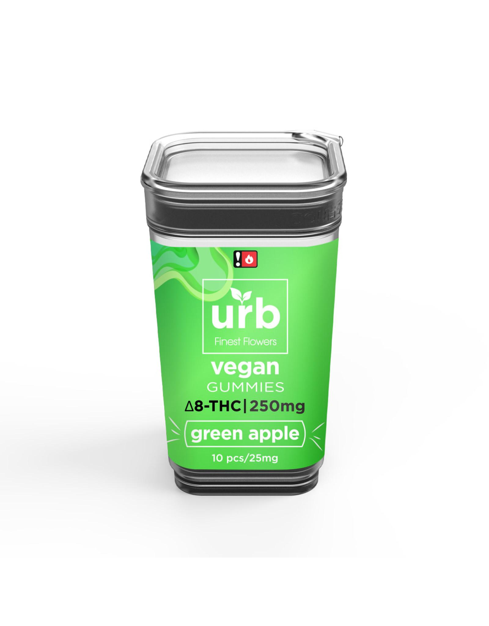 URB URB Delta 8 Green Apple Vegan Gummies 250mg 10ct