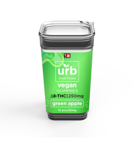 URB URB Delta 8 Green Apple Vegan Gummies 250mg 10ct