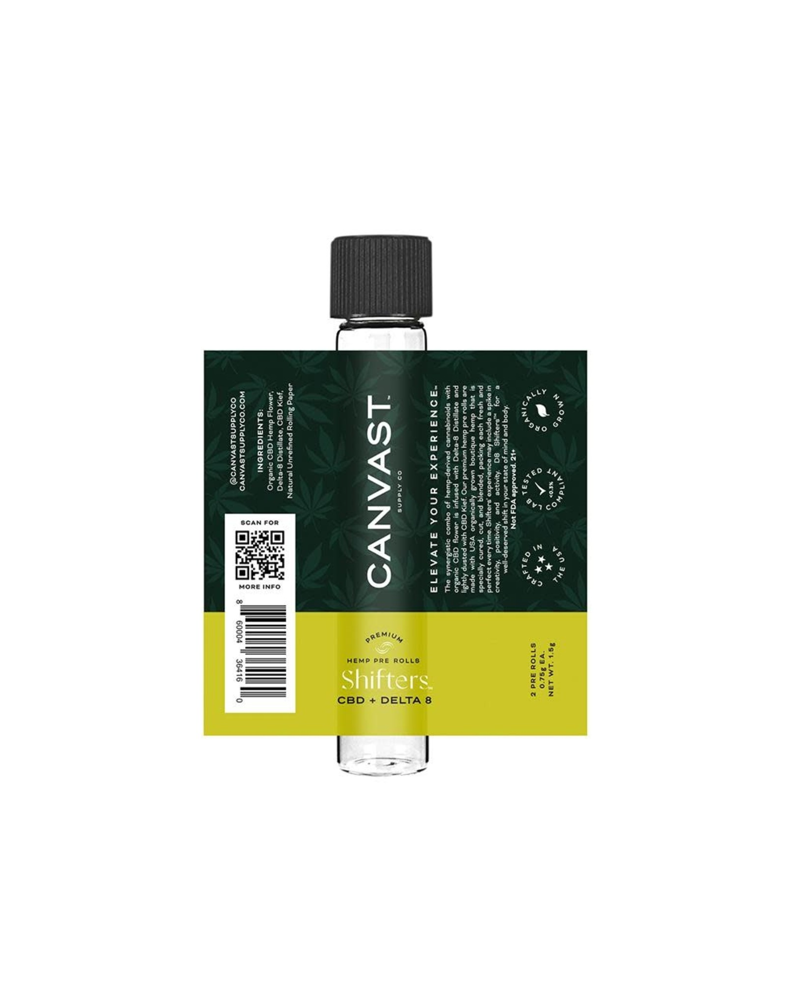 Canvast Canvast Delta 8 + CBD  Pre-Roll  1.5gr 2 count