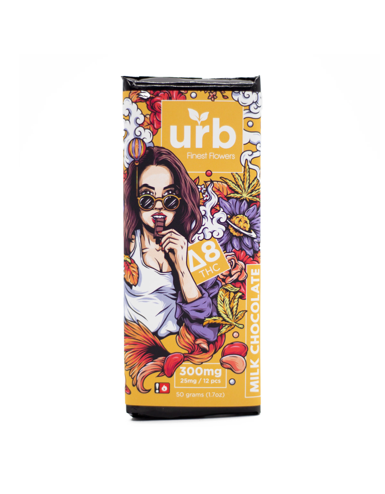 URB URB Delta 8 Milk Chocolate 300mg 50gr