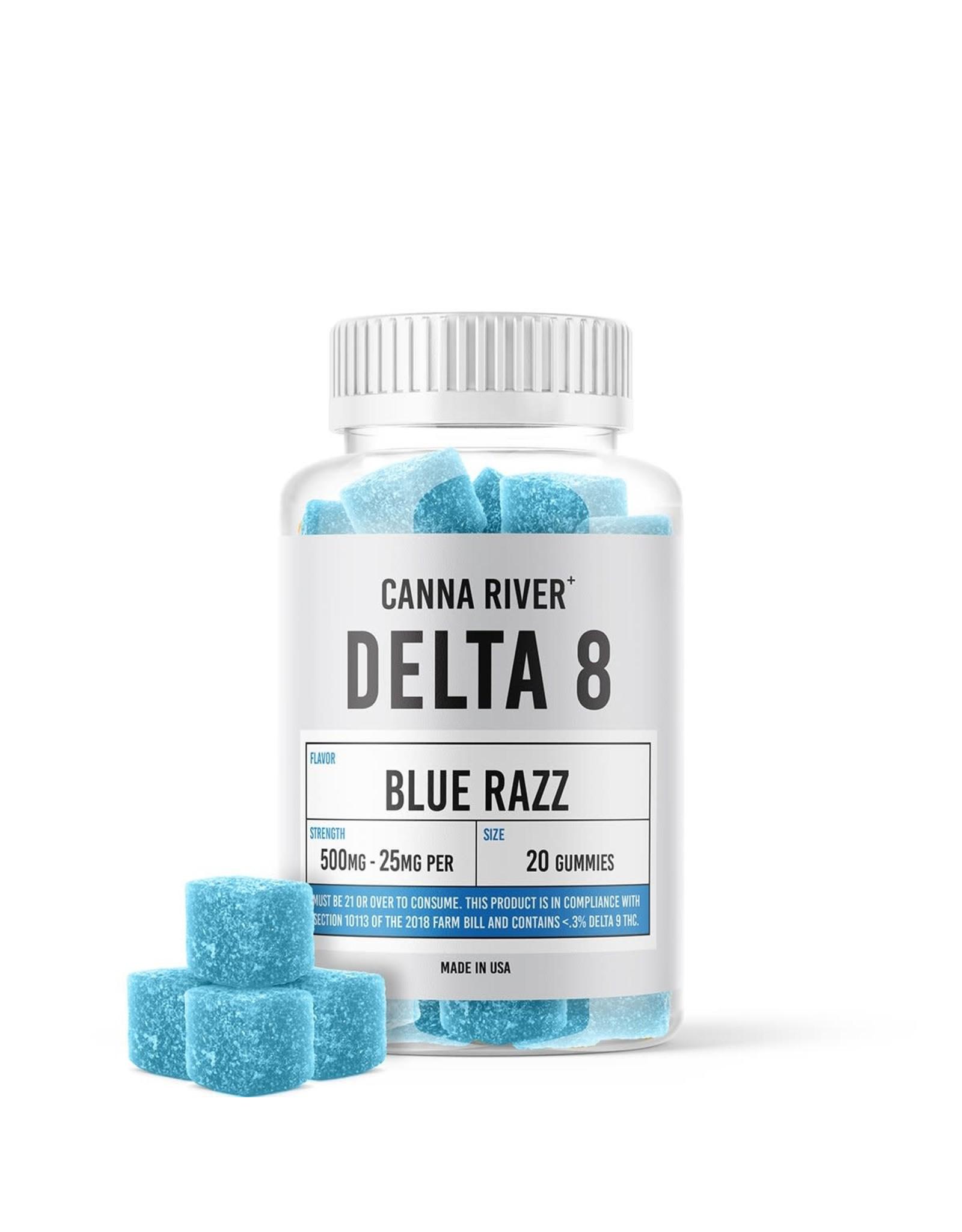 Canna River Canna River Delta 8 Gummies Blue Razz 25mg 20ct