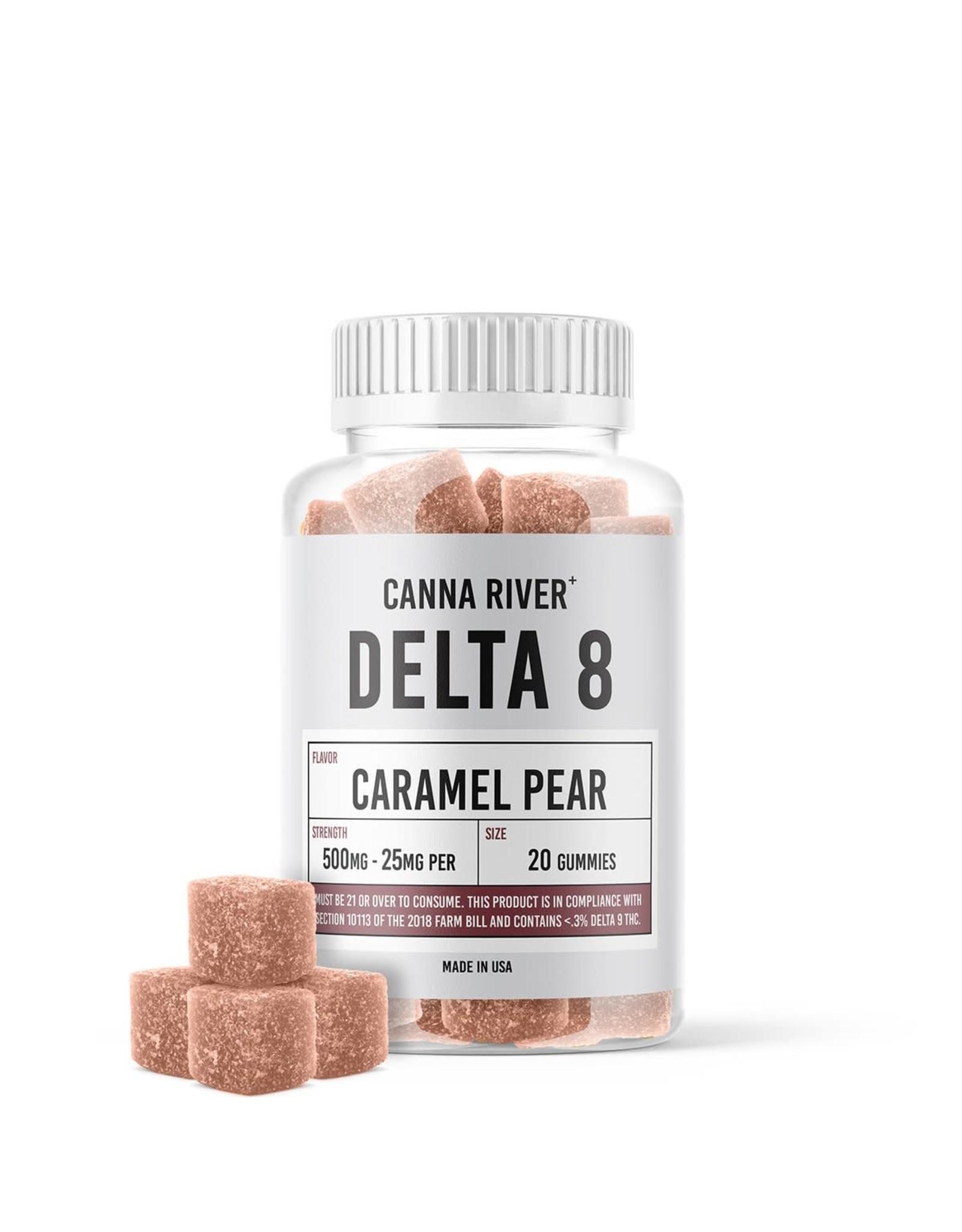 Canna River Canna River Delta 8 Gummies Caramel Pear 25mg 20ct