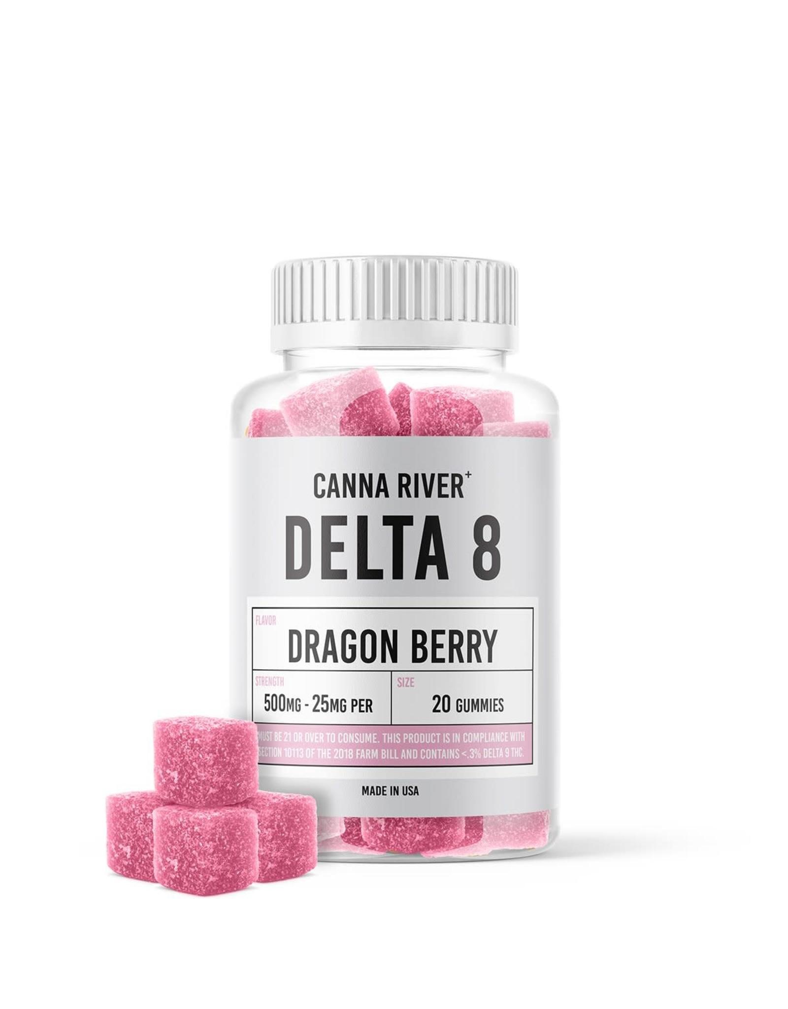 Canna River Canna River Delta 8 Gummies Dragon Berry 25mg 20ct