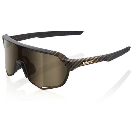 100% Cranbrothers S2 HIPER Silver Gold Mirror Lens Sunglasses