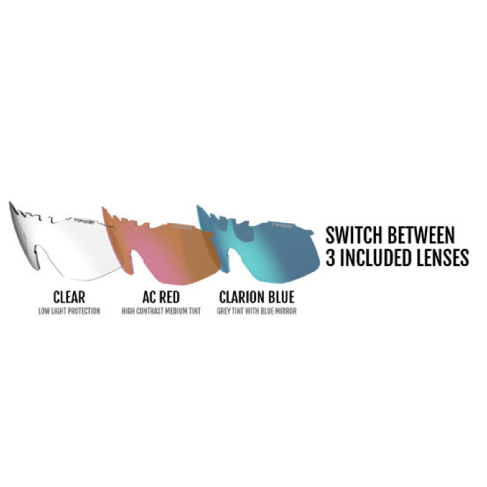 Tifosi Optics Tifosi Sledge, Crystal Orange Interchangeable Sunglasses - Clarion Blue/AC Red/Clear