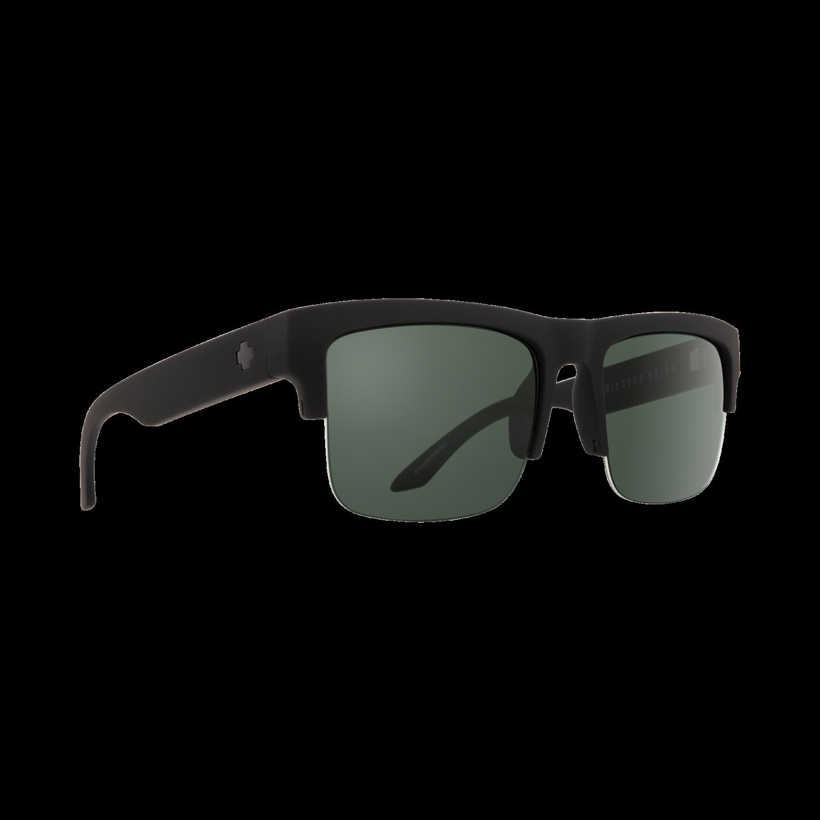 Spy DISCORD 5050 SOFT MATTE BLACK HAPPY GRAY GREEN POLAR