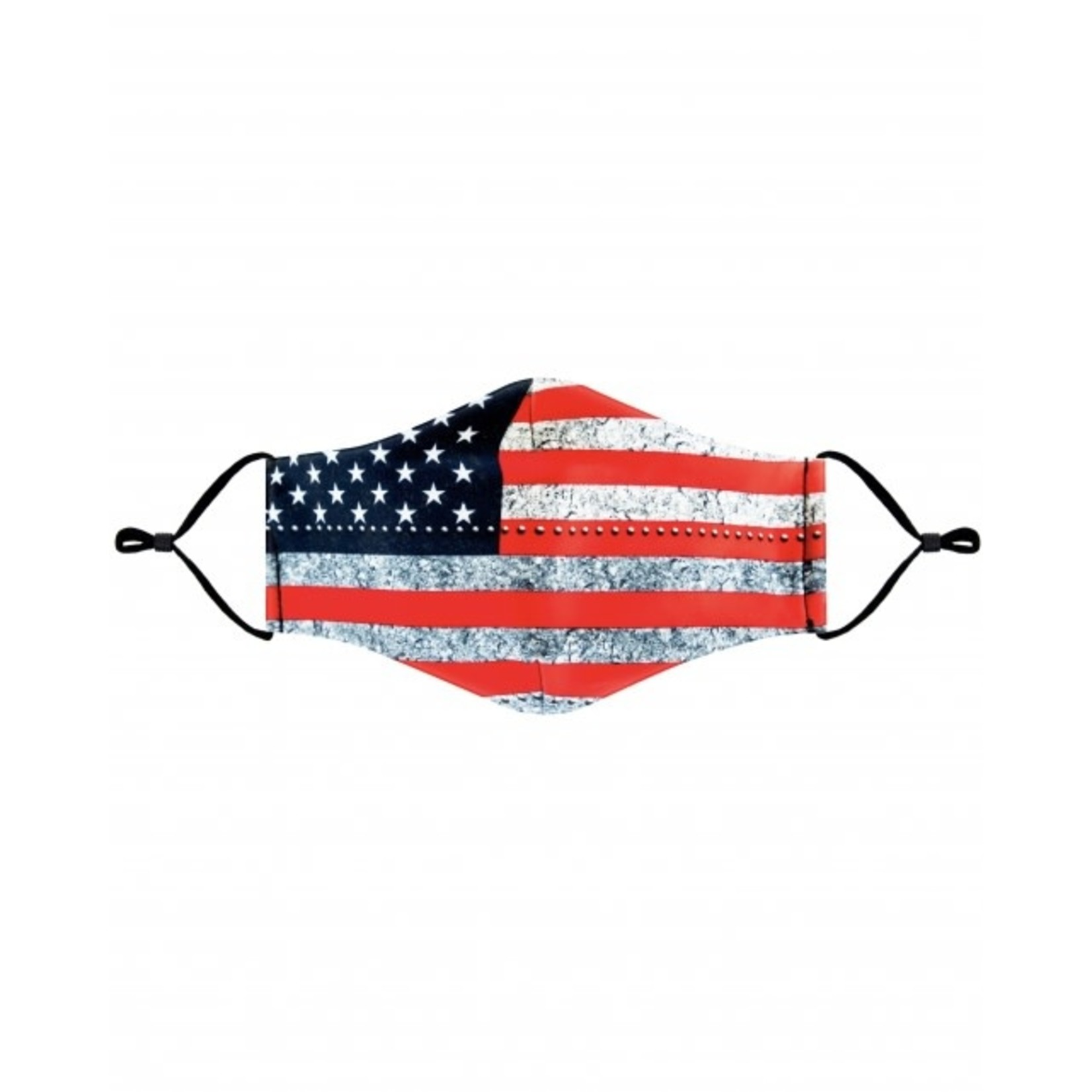 Metal Vintage Flag Cloth Mask