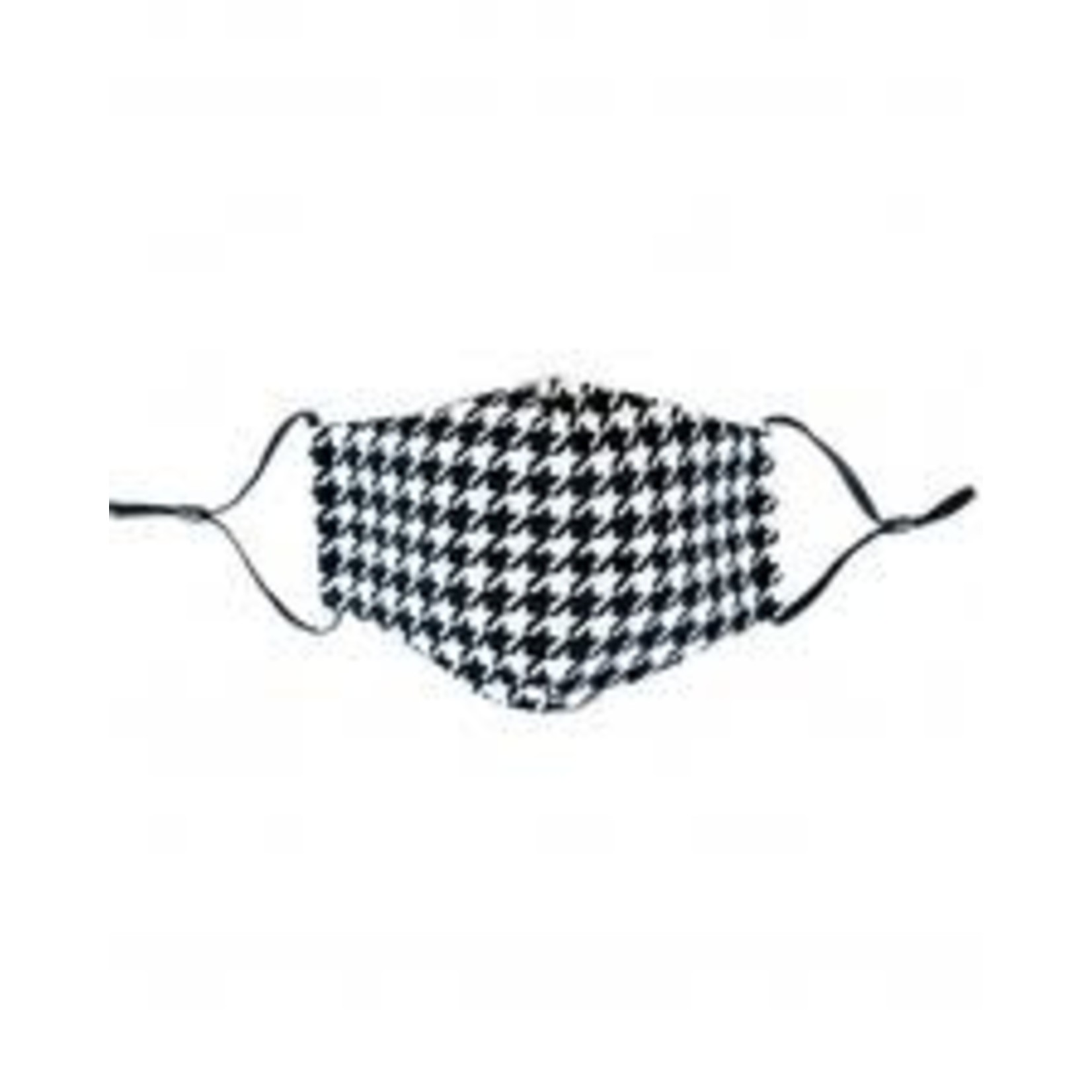 Houndstooth cloth mask with filter pocket