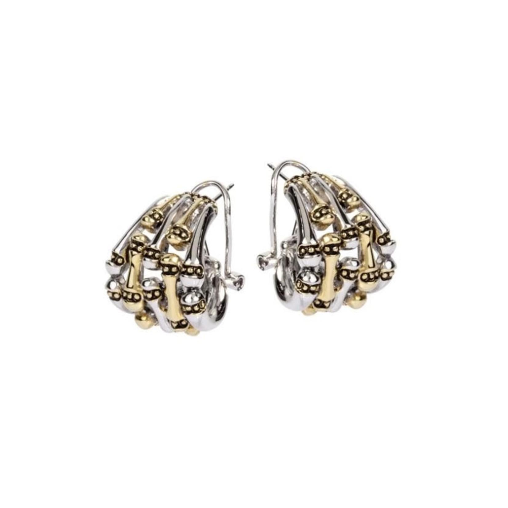 John Medeiros John Medeiros Two-Tone Earrings