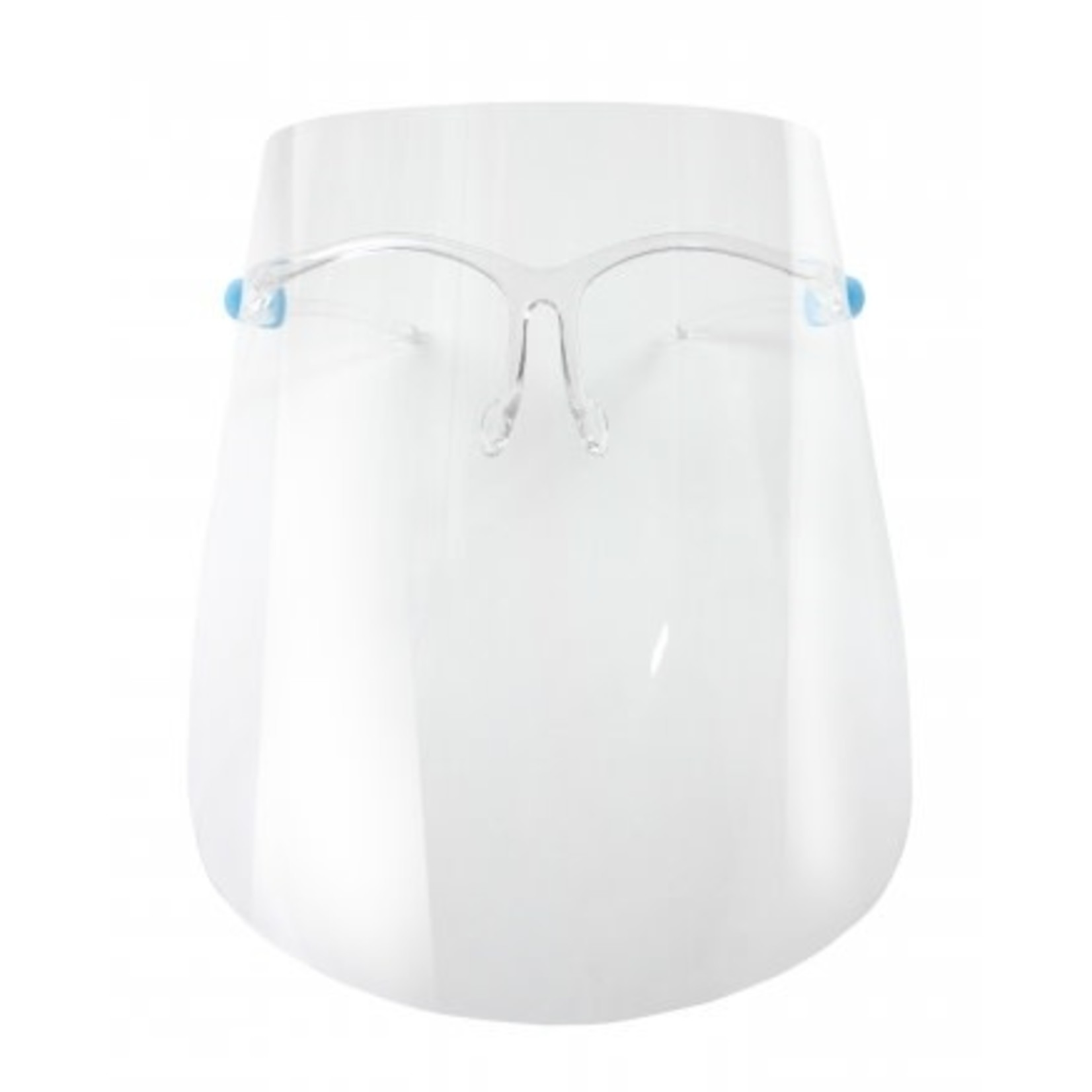 Protective face shield w glasses frame