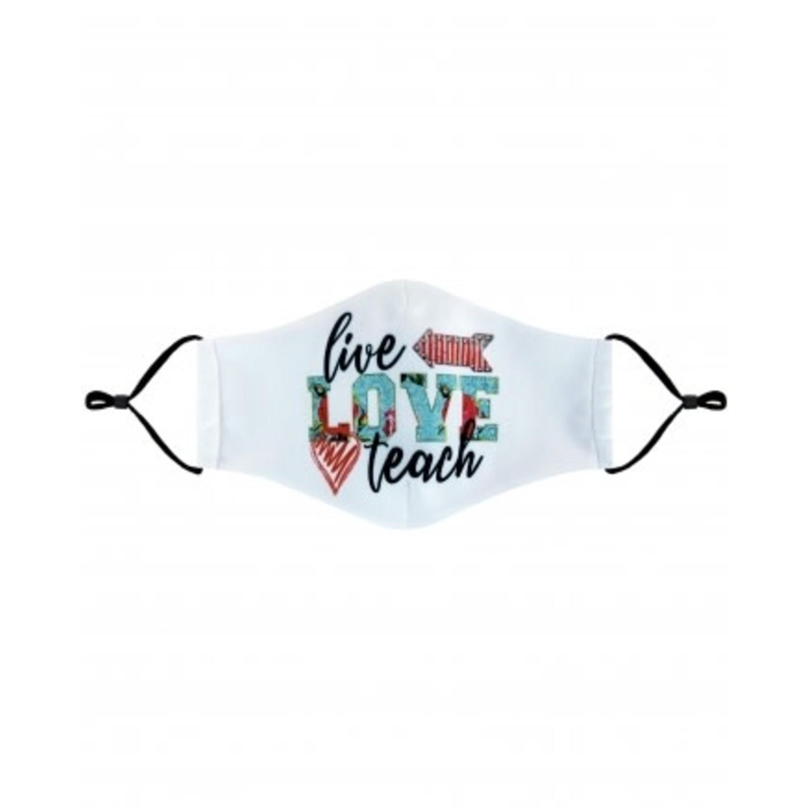 Live Love Teach cloth mask