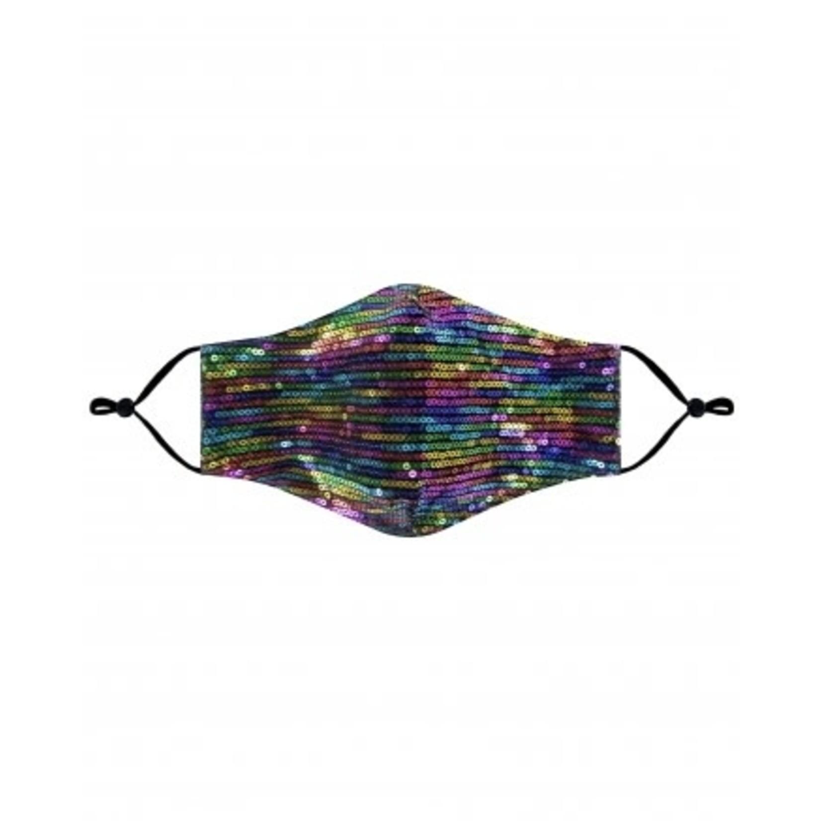 Sequin multi color cloth mask