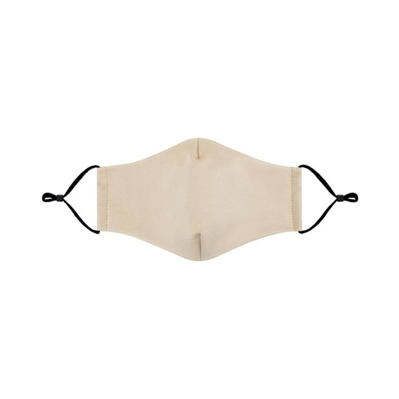 Solid beige cloth mask