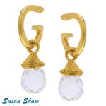Susan Shaw Susan Shaw Clear Quartz Earring