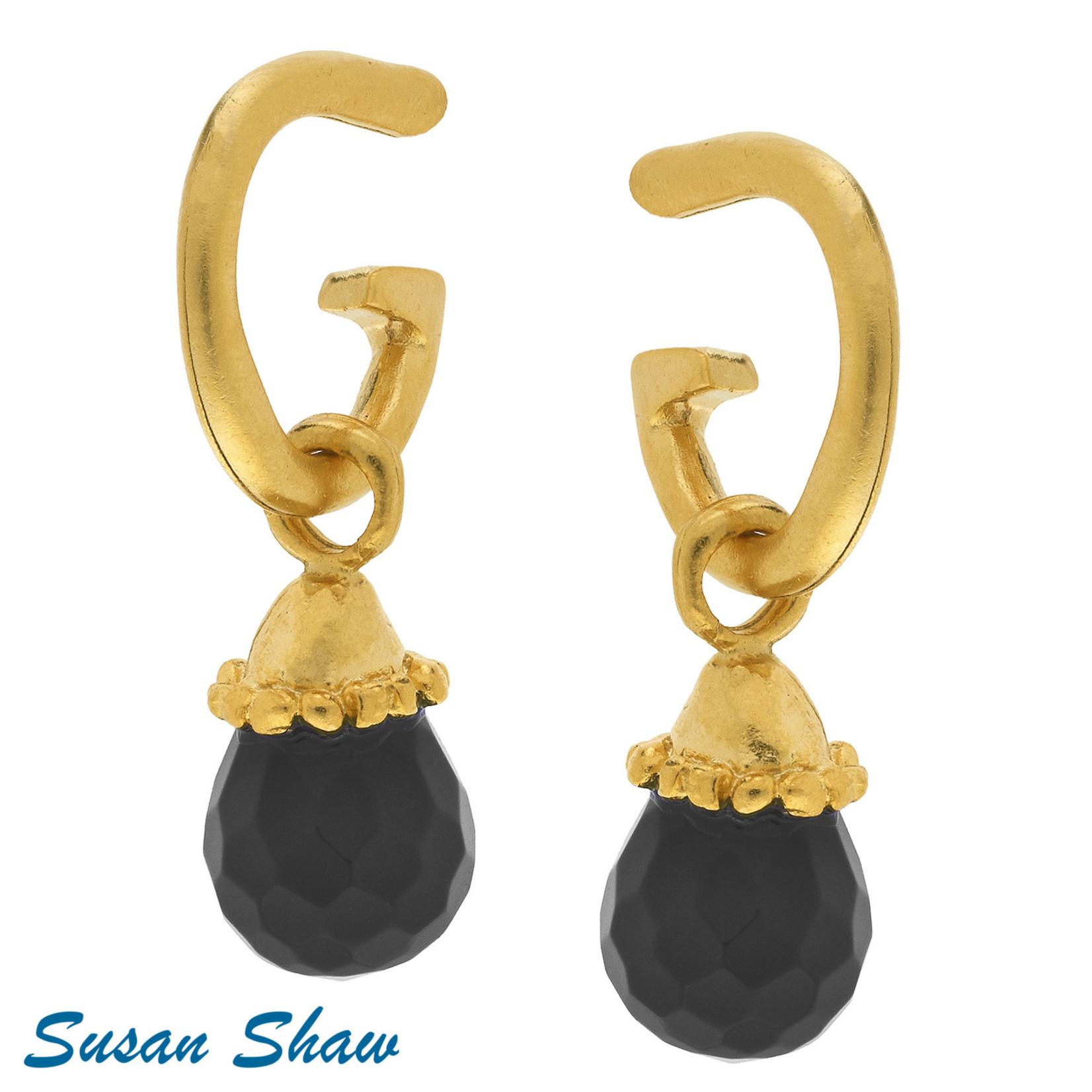 Susan Shaw Susan Shaw Black Quartz Earring
