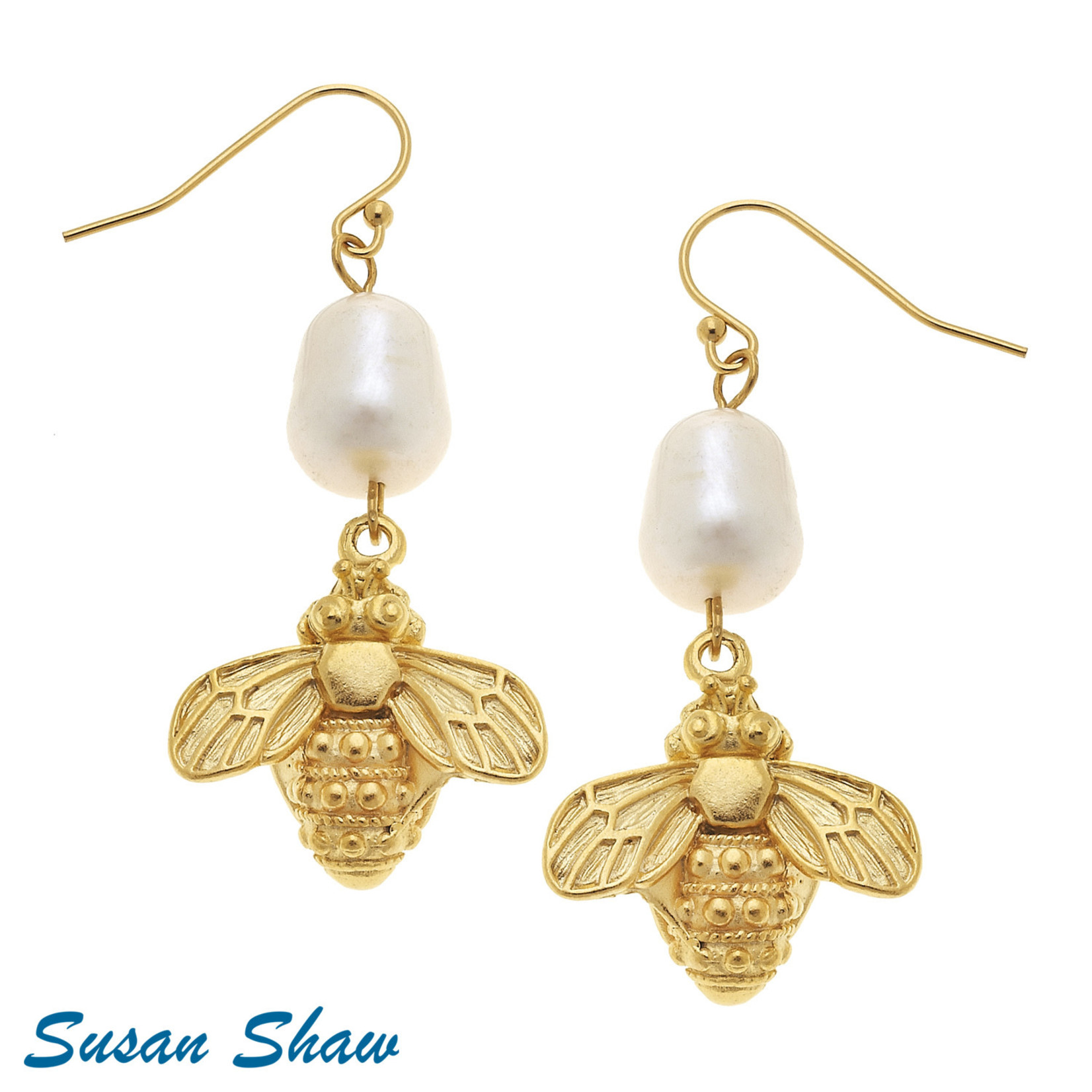 Susan Shaw Susan Shaw Gold & Bee Earring