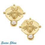 Susan Shaw Susan Shaw Gold & Bee Clip Earring