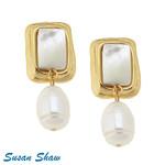 Susan Shaw Susan Shaw Pearl Drop Earring