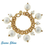 Susan Shaw Susan Shaw Pearl Charm Bracelet