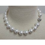 "Casuals Fairhope 16"" Pearl Necklace with Silver Magnetic Clasp"