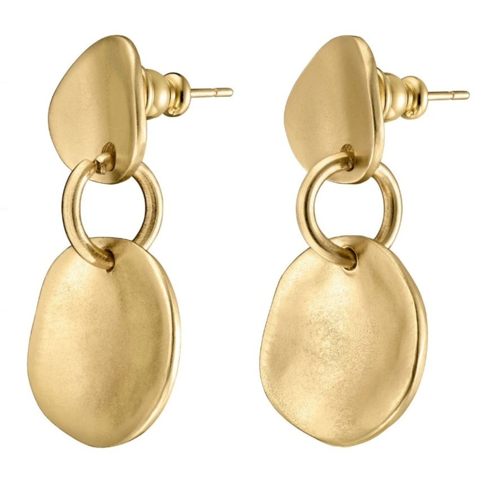 Uno de 50 Scales Gold Earrings
