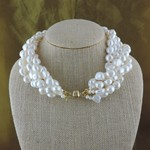Casuals Fairhope 5 Strand Freshwater Pearl Necklace with Magnetic Clasp