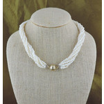 Casuals Fairhope 6 Strand Seed Pearl Necklace with Gold Magnetic Clasp