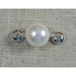 Casuals Fairhope Pearl Enhancer - Silver