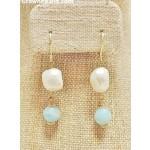 Casuals Fairhope Baroque Pearl Aqua Drop Earring