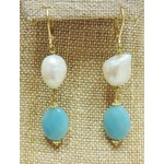 Casuals Fairhope Pearl Amazonite Earring