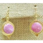 Casuals Fairhope Pink Druzy Drop Earrings